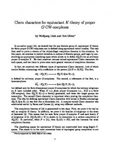 Chern characters for equivariant K-theory of proper ... - Semantic Scholar