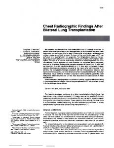Chest Radiographic Findings After Bilateral Lung Transplantation