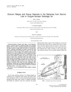 Chevron Ridges and Runup Deposits in the Bahamas from Storms ...