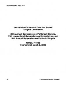 (CHG) to decrease hemodialysis (HD) - Wiley Online Library