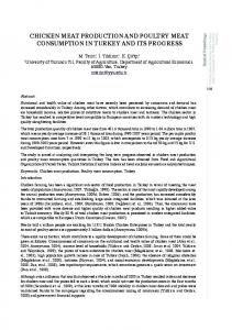 chicken meat production and poultry meat consumption in ... - CABI