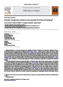 Child Abuse & Neglect Emotion recognition ... - Semantic Scholar