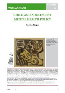 CHILD AND ADOLESCENT MENTAL HEALTH POLICY - iacapap