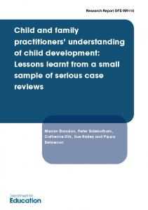 Child and family practitioners' understanding of child development ...
