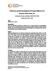 Child care - Early education and care: Development of young children ...