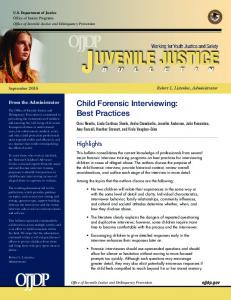 Child Forensic Interviewing: Best Practices - Office of Juvenile Justice ...
