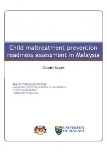 Child maltreatment prevention readiness assessment in Malaysia