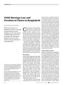 Child Marriage Law and Freedom of Choice in ...