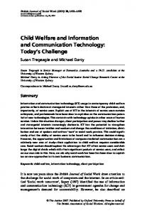 Child Welfare and Information and Communication Technology ...