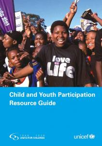 Child Youth Resource Guide - Unicef