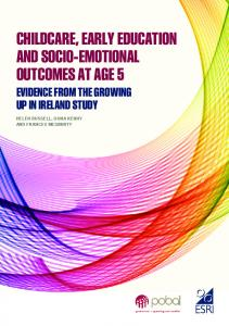 childcare, early education and socio-emotional outcomes at age 5