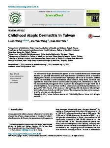 Childhood Atopic Dermatitis in Taiwan