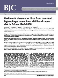 childhood cancer risk in Britain 1962&ndash - PubMed Central Canada