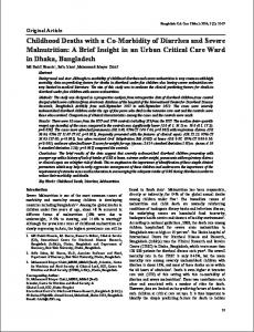 Childhood Deaths with a Co-Morbidity of Diarrhea and Severe ...