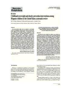 Childhood overweight and obesity prevention interventions among ...