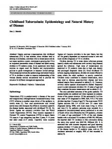Childhood Tuberculosis: Epidemiology and Natural ... - Springer Link