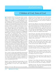Children of God, Sons of God - Affirmation & Critique