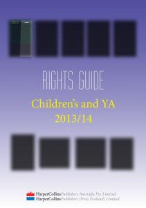 Children's and YA Rights Guide