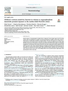 Children's contrast sensitivity function in relation to ...