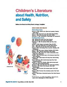 Children's Literature about Health, Nutrition, and Safety