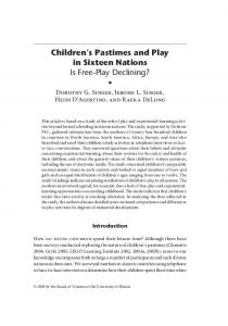 Children's Pastimes and Play in Sixteen Nations - American Journal ...