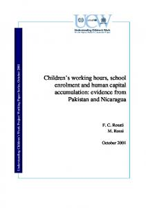 Children's working hours, school enrolment and human capital ...