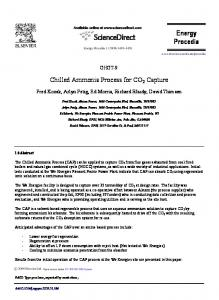 Chilled ammonia process for CO2 capture - ScienceDirect