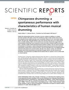 Chimpanzee drumming: a spontaneous ... - Semantic Scholar