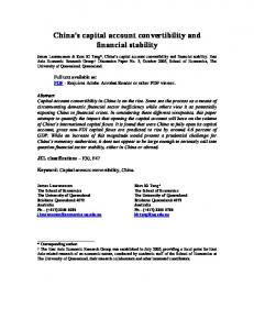 China's capital account convertibility and financial stability