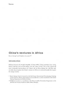 China's ventures in Africa - ISS Africa