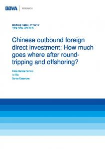 Chinese outbound foreign direct investment - BBVA Research