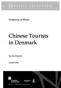Chinese Tourists in Denmark - OpenArchive@CBS