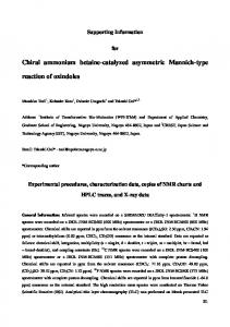 Chiral ammonium betaine-catalyzed asymmetric ... - Beilstein Journal