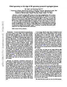 Chiral symmetry on the edge of 2D symmetry protected topological ...