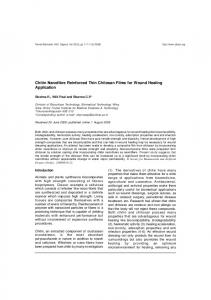 Chitin Nanofibre Reinforced Thin Chitosan Films for Wound ... - MedIND