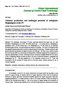 Chitinase production and antifungal potential of endophytic