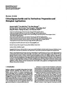 Chitooligosaccharide and Its Derivatives: Preparation and Biological