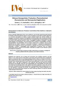 Chitosan Nanoparticles: Production, Physicochemical