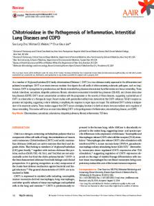 Chitotriosidase in the Pathogenesis of Inflammation ... - CiteSeerX