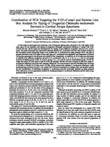 Chlamydia trachomatis - Journal of Clinical Microbiology - American ...