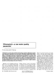 Chlorophyll—a raw water quality - G. Fred Lee & Associates