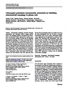 Chloroquine potentiates temozolomide cytotoxicity by ... - Springer Link