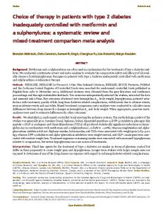 Choice of therapy in patients with type 2 diabetes ... - BioMedSearch