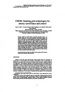 CHOIS: Enabling grid technologies for obesity ...