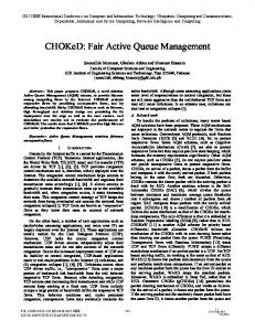 CHOKeD: Fair Active Queue Management - IEEE Xplore