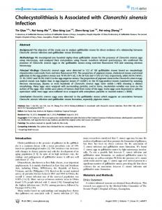 Cholecystolithiasis Is Associated with Clonorchis ... - Semantic Scholar