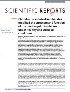 Chondroitin sulfate disaccharides modified the ... - Semantic Scholar