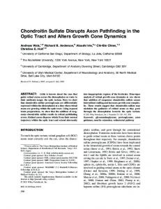 Chondroitin sulfate disrupts axon pathfinding in ... - Wiley Online Library