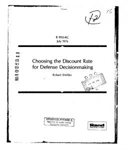 Choosing the Discount Rate for Defense Decisionmaking. - DTIC