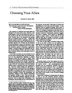 Choosing Your Allies
